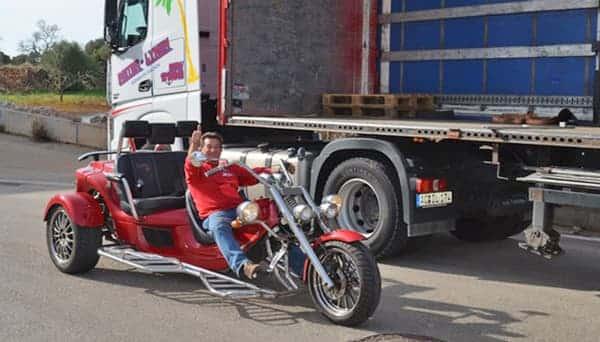 Mallorca-Transporte Express Lynen Motorrad
